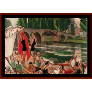 banks of the river loire - gerda wegener cross stitch pattern by cross stitch collectibles
