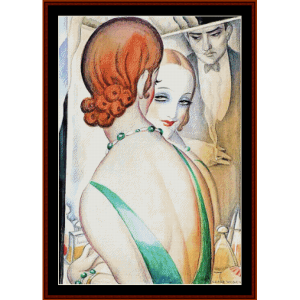 At the Mirror - Gerda Wegener cross stitch pattern by Cross Stitch Collectibles | Crafting | Cross-Stitch | Other