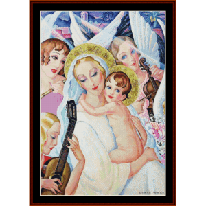 Madonna and Child - Gerda Wegener cross stitch pattern by Cross Stitch Collectibles | Crafting | Cross-Stitch | Other
