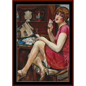 Queen of Hearts - Gerda Wegener cross stitch pattern by Cross Stitch Collectibles | Crafting | Cross-Stitch | Other