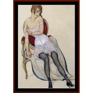 Lady in Underwear - Gerda Wegener cross stitch pattern by Cross Stitch Collectibles | Crafting | Cross-Stitch | Other