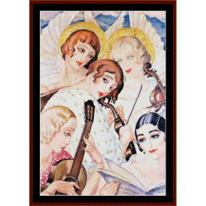 homage to bach - gerda wegener cross stitch pattern by cross stitch collectibles