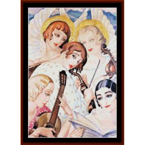Homage to Bach - Gerda Wegener cross stitch pattern by Cross Stitch Collectibles | Crafting | Cross-Stitch | Other