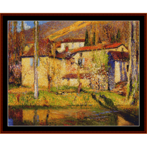 Landscape Near Toulouse - Henri Martin cross stitch pattern by Cross Stitch Collectibles | Crafting | Cross-Stitch | Other