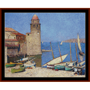 Port of Collioure - Henri Martin cross stitch pattern by Cross Stitch Collectibles | Crafting | Cross-Stitch | Other