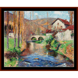 The Bridge at Labastide - Henri Martin cross stitch pattern by Cross Stitch Collectibles | Crafting | Cross-Stitch | Other