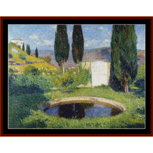 Basin at Labistide - Henri Martin cross stitch pattern by Cross Stitch Collectibles | Crafting | Cross-Stitch | Other