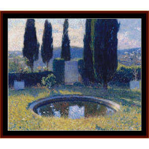 Little Pool in the Park - Henri Martin cross stitch pattern by Cross Stitch Collectibles | Crafting | Cross-Stitch | Other