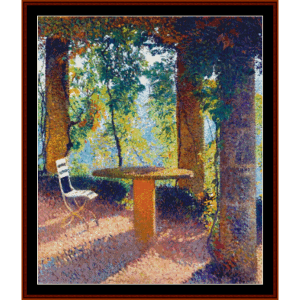 The Arbor in Summer - Henri Martin cross stitch pattern by Cross Stitch Collectibles | Crafting | Cross-Stitch | Other