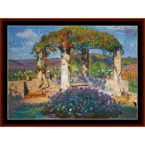 The Arbor in the South - Henri Martin cross stitch pattern by Cross Stitch Collectibles | Crafting | Cross-Stitch | Other