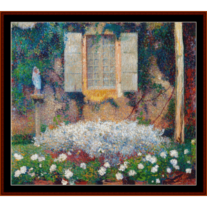 view from the garden - henri martin cross stitch pattern by cross stitch collectibles