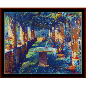 Garden at Marquayrol - Henri Martin cross stitch pattern by Cross Stitch Collectibles | Crafting | Cross-Stitch | Other