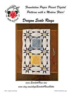 dragon scale rings foundation paper pieced fpp pattern
