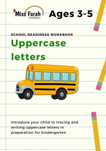 uppercase letters workbook