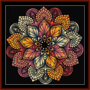 mandala 51 cross stitch pattern by cross stitch collectibles