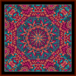 mandala 54 cross stitch pattern by cross stitch collectibles
