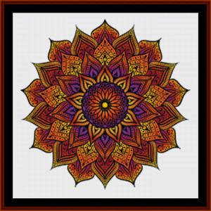 mandala 55 cross stitch pattern by cross stitch collectibles