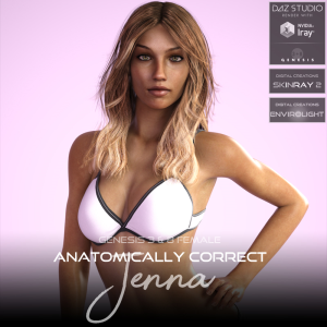 Anatomically Correct: Jenna for Genesis 3 and Genesis 8 Female | Software | Design