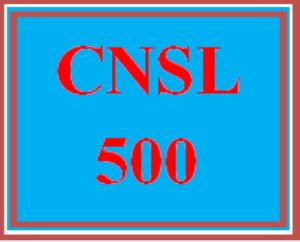 cnsl 500 wk 3 - professional development plan