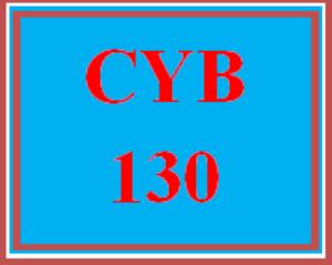 CYB 130 Week 2 Labs | eBooks | Education