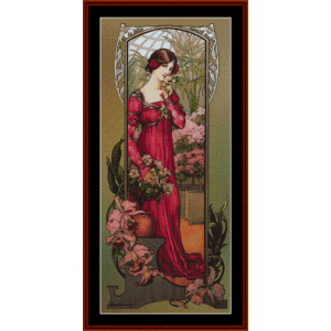 flowers of gardens - elisabeth sorel cross stitch pattern by cross stitch collectibles