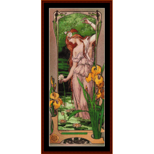 Flowers of Water – Elisabeth Sonrel cross stitch pattern by Cross Stitch Collectibles | Crafting | Cross-Stitch | Other