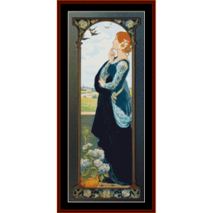 swallows of remembrance – elisabeth sonrel cross stitch pattern by cross stitch collectibles