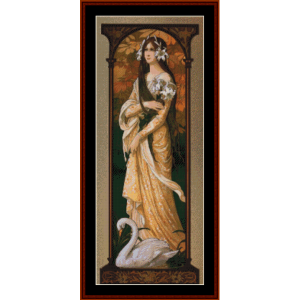 The Innocent Swan – Elisabeth Sonrel cross stitch pattern by Cross Stitch Collectibles | Crafting | Cross-Stitch | Other