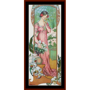 greenhouse flowers – elisabeth sonrel cross stitch pattern by cross stitch collectibles