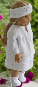 dollknittingpattern 0210d tara - a lovely, white summer dress knitted in cotton-(english)