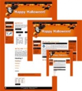 Halloween Site Template 2 | Other Files | Patterns and Templates