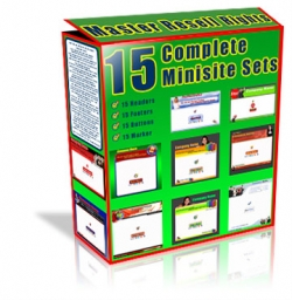 15 Complete Minisite Sets | Other Files | Patterns and Templates