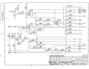 fanuc a20b-2000-0170 fs0c 32bit master board (full schematic circuit diagram)