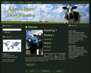 dairy farming wp theme