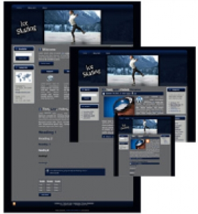 ice skating - wp theme