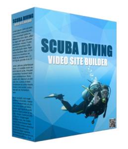 scuba diving video site builder software