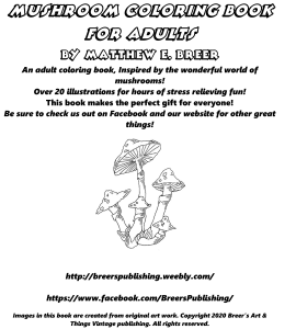 Mushroom coloring book for adults | eBooks | Arts and Crafts
