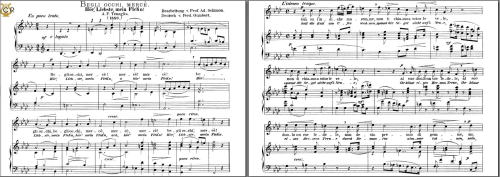First Additional product image for - Begli occhi, mercè. High Voice in F Minor, A.F.Tenaglia. Caecilia, Ed. André. Tablet Sheet Music (A5 Landscape)