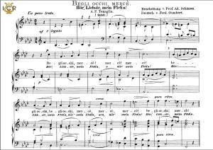 begli occhi, mercè. high voice in f minor, a.f.tenaglia. caecilia, ed. andré. tablet sheet music (a5 landscape)
