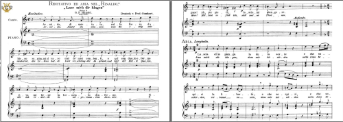 First Additional product image for - Lascia ch'io pianga, High Voice in F Major, G.F.Haendel. Caecilia, Ed. André. Tablet Sheet Music (A5 Landscape)