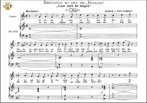 Lascia ch'io pianga, High Voice in F Major, G.F.Haendel. Caecilia, Ed. André. Tablet Sheet Music (A5 Landscape) | eBooks | Sheet Music