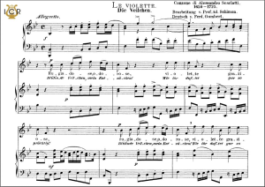 le violette, high voice in b-flat major, a. scarlatti.. caecilia, ed. andré. tablet sheet music (a5 landscape)