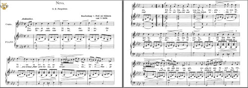 First Additional product image for - Nina, High Voice in F Minor, G.B. Pergolesi.. Caecilia, Ed. André. Tablet Sheet Music (A5 Landscape)