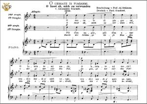 o cessate di piagarmi, high voice in g minor, a. scarlatti. caecilia, ed. andré. tablet sheet music (a5 landscape)