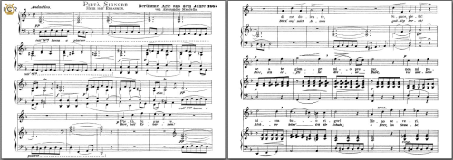 First Additional product image for - Pietà, Signore. High Voice in D Minor, A. Stradella. Caecilia, Ed. André. Tablet Sheet Music (A5 Landscape)