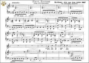 pietà, signore. high voice in d minor, a. stradella. caecilia, ed. andré. tablet sheet music (a5 landscape)