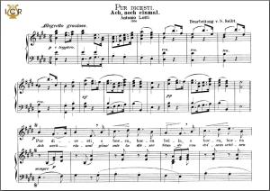 pur dicesti o boca bella, high voice in e major, a. lotti. caecilia, ed. andré. tablet sheet music (a5 landscape)