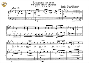 ritornerai fra poco, high voice in g minor, j.a. hasse. caecilia, ed. andré. tablet sheet music (a5 landscape)