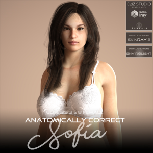 anatomically correct: sofia for genesis 3 and genesis 8 female