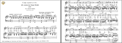 First Additional product image for - Come raggio di sol, High Voice in G Minor, A.Caldara. Caecilia, Ed. André. Tablet Sheet Music (A5 Landscape)